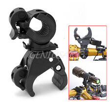 New Cycling Bike Handlebar Mount Flashlight Holder Clamp Clip LED Torch Bracket