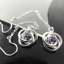 Amethyst Sterling Silver Handcrafted Earrings