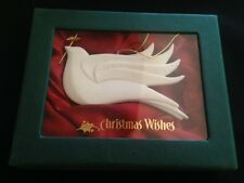 "Demdaco Christmas Wishes ""Peace"" Porcelain Ornament ""Peace from a quiet heart"""