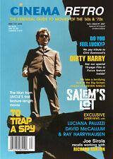 CINEMA RETRO #9 RARE! DIRTY HARRY MAN FROM UNCLE RAY HARRYHAUSEN LUCIANA PALUZZI