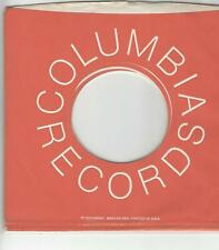 45 COMPANY SLEEVE-  COLUMBIA RECORDS- ORANGE AND WHITE SLEEVE