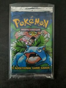 Factory sealed base set Venusaur booster pack Pokemon PSA Charizard Blastoise