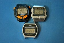 VINTAGE CASIO/JAPAN LCD  3 WATCHES WITH MODULES IN FULL WORKING ORDER FOR PARTS.