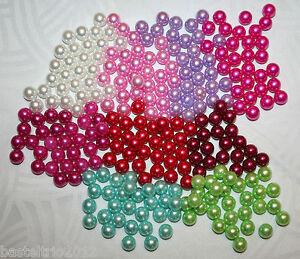 Perle Perlen ohne Loch Hochzeit Bastelperlen 10 mm Scrapbooking diverse Farben