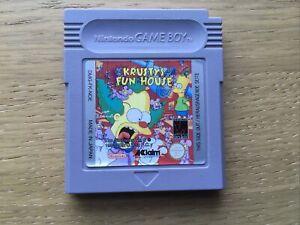 Krusty's Fun House Nintendo Gameboy Game PAL Cart Only