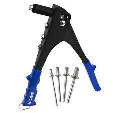 Hand Riveter Gun Pop Pot Rivet 2.4 / 3.2 / 4.0 / 4.8mm Heads and 40 Rivets AT9