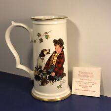 Norman Rockwell Collectors Stein Coa Gorham Pride Of Parenthood Boy Dog Cup Mug