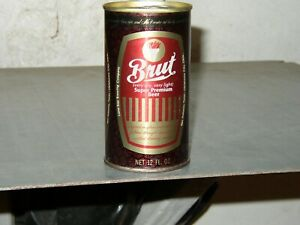 BRUT  SS NM Beer Can - Oklahoma Stamp on Bottom Lid  -Lone Star Brewing