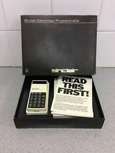 Sinclair Cambridge Programmable Calculator Boxed With Instructions
