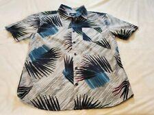 New Men O'Neill Palmade Dress Shirt bottom up color FOG Size Medium.