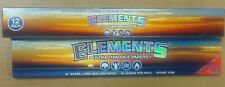 ELEMENTS 12 INCH CIGARETTE ROLLER ROLLING MACHINE & 12 INCH ROLLING PAPERS