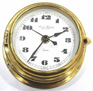 Marine vintage clock benora humburg since 1886 captain brass quartz nautical