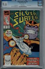 CGC 9.6 SILVER SURFER V3 #34 WHITE PAGES 1ST RE-APPEARANCE THANOS 1990
