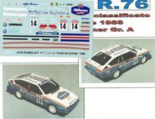 decal 1/43  ALFA ROMEO ALFETTA GTV6 R......S TOUR de CORSE 1986  TRON DER076