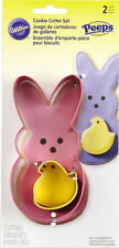 PEEPS Nesting Easter 2 pc Cookie Cutter Set from Wilton #0314 - NEW