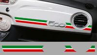 BANDE TRICOLORE ITALIE TABLEAU DE BORD POUR FIAT 500 AUTOCOLLANT STICKER BD536-1