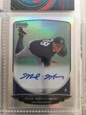 MARK MONTGOMERY 2013 BOWMAN CHROME REFRACTOR AUTO AUTOGRAPH #BCP-MM 329/500