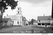 1930's Cape Porpoise Maine Langsford Road Church Original Negative & CD For Sale