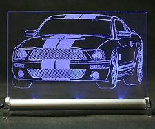 Ford Mustang V GT500 als Gravur auf LED Schild - Shelby