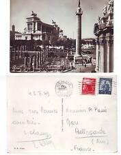 Carte Postale Noir Et Blanc Origine italie -illustrée rome - tampon genova