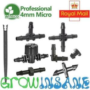 4mm Micro Irrigation Fitting Antelco Pipe Barbed Garden Watering Connector Valve