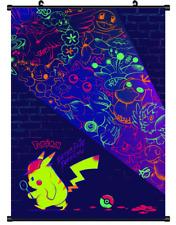 "Hot Japan Anime Pokemon Movie Detective Pikachu Art Poster Wall Scroll 8""x12"" 99"