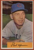 1954 Bowman #13 Paul Minner EX-EXMINT+ Chicago Cubs Free Shipping