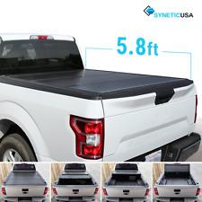 Aluminum Hard Tri-Fold Tonneau Cover 2014-2018 Silverado/Sierra 5.8ft Truck Bed