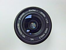 Vivitar Wide Angle MC Camera Lens 28mm F :2.8. In Excellent Condition.