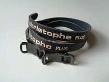 *Rare NOS Vintage 1980s CHRISTOPHE 'PLUS' black leather pedal toe straps*