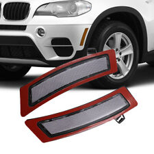 Clear Front Bumper Reflector Side Marker Lights For 2011-2013 BMW E70 X5 Pair