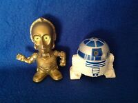 Vintage Star Wars Episode III Burger King Collectibles R2D2 & C3PO Toy Figures