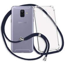 Handykette Hülle Band für Samsung Galaxy A6 2018 (A600, 5.6'') - blau