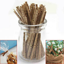 100Pcs/bag Paper Twist Ties Party Bakery Cookie Candy Gift Bag Gift Wrapping