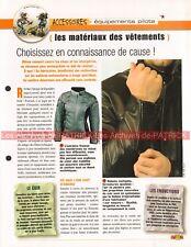 Accessoire Equipement materiaux des vêtements Joe Bar Team Fiche Moto #000055