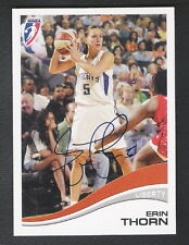 Autographed Erin Thorn 2007 WNBA Card #17 New York Liberty Chicago Sky