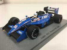 Spark F1 Ligier JS31 Grand Prix Monaco 1988 R. Arnoux 1/43 S3967