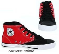 Boy Womens CONVERSE All Star® BLACK RED SPLIT MID HI TOP Trainers Boot UK SIZE 5