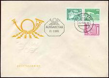 Allemagne de l'Est 1980, 5pf, 10pf, 20pf definitives FDC #C 14765