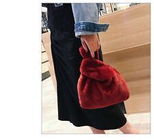 Woman S Faux Fur Tote Bag Grab Khaki Blue Black Wine Uk