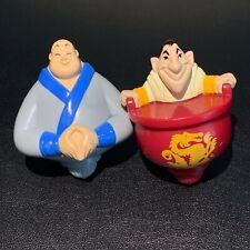 Vintage Disney Mulan Ling & Chien-Po Spinning Top McDonald Toy