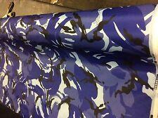 10 metros de 60 pulgadas de ancho azul DPM Camuflaje Impermeable Tela