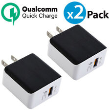 2x USB Wall Charger QualComm QC3.0 Quick Charger For iPhone X Samsung Galaxy S9+