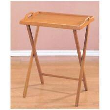 New Oak Finish Folding TV Tray Table / snack drinking portable Home Office desk