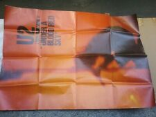 "U2 Blood Red Sky Uk 54 X 38 "" Subway Poster Nmint Folded Rare Clean Vtg Htf!"