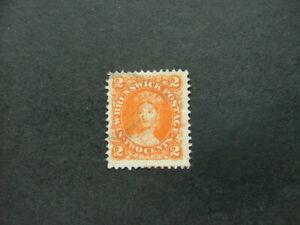 New Brunswick QV 1863 2c orange SG10 G-FU