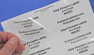 SMALL CLEAR LABELS,STICKERS  PERSONALISED ,PRINTED  with your detail 21mm x38mm