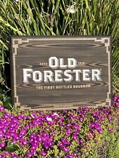 Old Forester Beer Bar Pub Man Cave Wood Sign  Mirror New