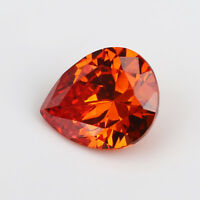 10x10mm 6.55ct Orange Red Sapphire Trillion Shape AAAAA VVS Loose Gemstone