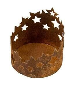 Rost Windlicht Sterne 10 cm Edelrost Leuchter Metall Laterne Gartendeko Garten